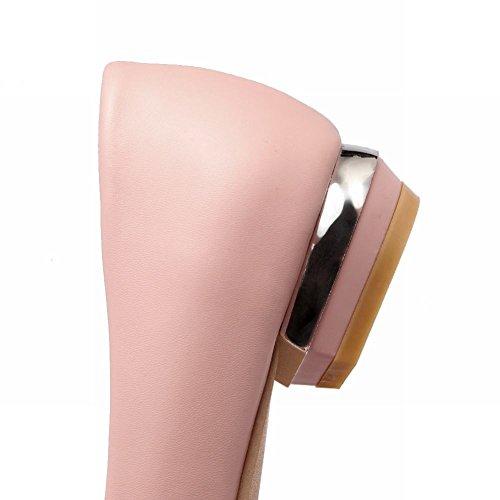 MissSaSa Donna Scarpe col Tacco Basso Elegante e Casual Rosa