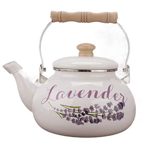 Wasserkocher LCFF Emaille Lavendel Druck Bubble Teekanne Gas Induktionsherd General 2.5L - 2,5 L Hebel