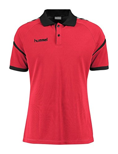 Hummel Auth. Charge Functional Polo - True Red, Rosso vivo, L