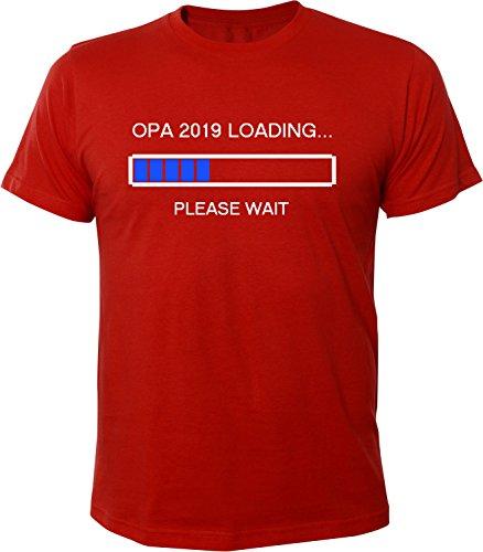 Mister Merchandise Herren Men T-Shirt Opa 2019 Loading Tee Shirt bedruckt Rot