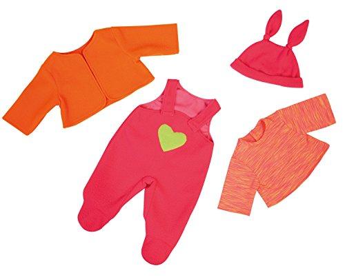 Bayer Design - Conjunto con camiseta, pantalón y chaqueta para muñecas, color fucsia y anaranjada (83833)