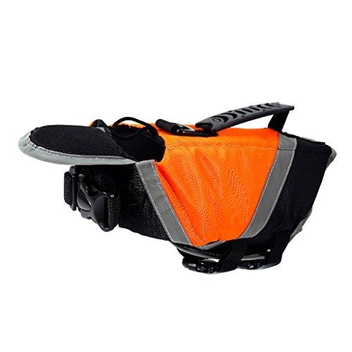 Pet - Helm, Hund Badeanzug, Teddy Mit Weste, Sommer Goldene Haare Hund Bekleidung, Hündchen Sicherheit Kleidung Gelb/Orange (Farbe : Orange, größe : Xl) (Chihuahua Badeanzug)