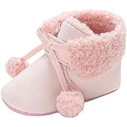 Botas de Nieve de Vendaje para bebé recién Nacido niños niñas Zapatos Calientes Infantil Zapatillas Zapatitos Primeros Pasos Calzado 0-18 Mes