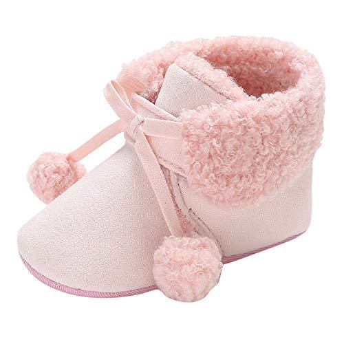 huhe Kleinkind Niedlich Schneeschuhe Boots Kinderschuhe Baby Mädchen Warm Winterschuhe Schuhe Jungen Lauflernschuhe Weiche Sohle Babyschuhe Krabbelschuhe ()