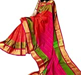 FASHION FLOWERZ Andhra Uppada Silk Sarees with Blouse for Women (Multicolor)