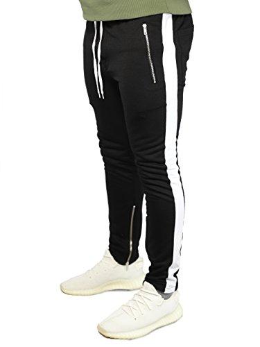 Deadstock Trackpants | Jogginghose Sweatpants Hose (XL, 1 Stripe Weiß)
