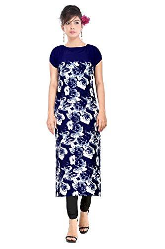 Shree Laxmi Fashion Women's Crepe Kurti (WWF-7_X-Large_Blue_X-Large)