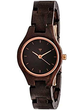 Kerbholz Damen-Armbanduhr Adelheid Analog Quarz Holz 0612524230926