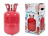 Alsino Heliumgasflasche für 30 Ballons Heliumgas Helium Gasflasche Ballongas Einweg, wählen:0.25 m³ ( 30 Ballons )