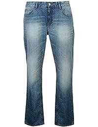 Lee Cooper Herren Straight Jeans Gerades Bein Jeanshose Baumwolle Denim Hose