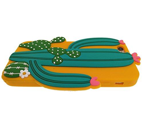 iPhone 7 Plus Hülle, BENKER Hochwertig Schlagfeste und Kratzfeste (Mexikanischer Stil) Weich Silikon Kreativ 3D Cartoon Telefon Fall - Kaktus 2 Kaktus 3