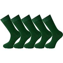 Mysocks® para hombres y mujeres Paquete de 5 pares de calcetines de color liso peinados