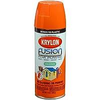 Krylon Division 2337 12 Oz Pumpkin Safety Orange Fusion For Plastic Spray Paint - Pack of 6
