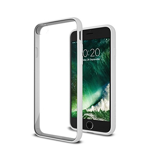 Cover iPhone 7 and 8, Snugg Apple iPhone 7 and 8 Custodia Case [Fondello Trasparente] TPU Ultra-Slim Pelle – Verde, Vision Range White