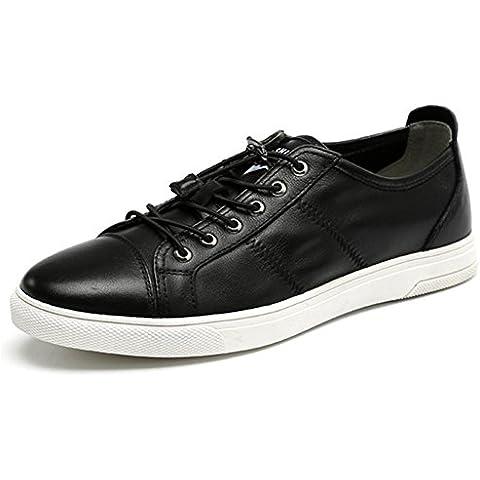 Scarpe uomo autunno inverno moda nero Trend Casual in pelle pizzo scarpe classiche , black , 39