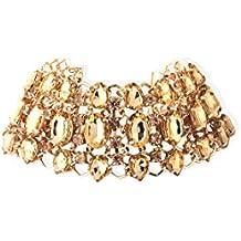 Bellofox Choker Necklace for Women (Golden)(BN1408)