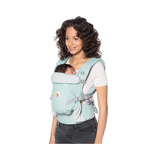 Ergobaby Baby Carrier for Newborn to Toddler up to 20kg, Adapt Frosted Mint 3-Position Ergonomic Child Carriers Front Backpack Ergobaby  6