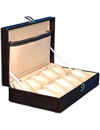 Ficotm Brown Watch Case For 10 Watches 10Wc4