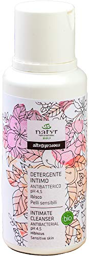Natyr Bio Intim-Waschlotion 250 ml - wohltuend, sanft hygienische Pflege mit idealem pH-Wert von 4.5 - natürlicher Schutz aus Hibiskus, Lavendel und Silberweidenextrakt