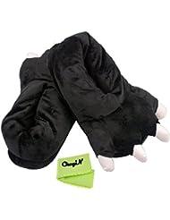 Ckeyin &#174 ; Lilo y Stitch Monster Cosplay para Adultos Plush Slipper Paw Garras del Monstruo Pies Suaves Calientes Zapatos Invierno Inicio Zapatillas Para Adultos