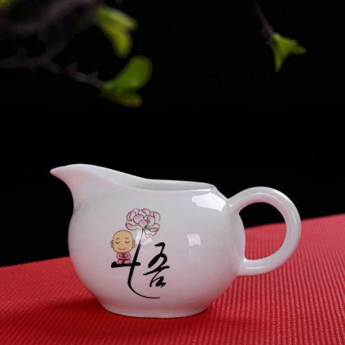HuXwei Teaset en Porcelaine Blanche Petit Moine Kung Fu Chinois en Céramique Café Thé Pichet-WU (Réalisation)