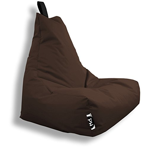 Patchhome Lounge Sessel XXL Gamer Sessel Sitzsack Sessel Sitzkissen In & Outdoor geeignet fertig befüllt | XXL - Braun - in 2 Größen und 25 Farben