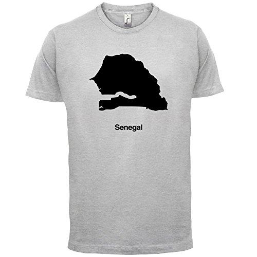 Senegal / Republik Senegal Silhouette - Herren T-Shirt - 13 Farben Hellgrau