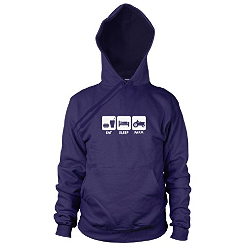 Eat. Sleep. Farm - Herren Hooded Sweater, Größe: XL, (Kostüm Bauern Ideen)