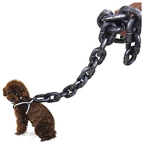 L Big Boss Halloween-Leine mit großer Kette, super dicke Eisenkette, Kunststoff, für Hunde