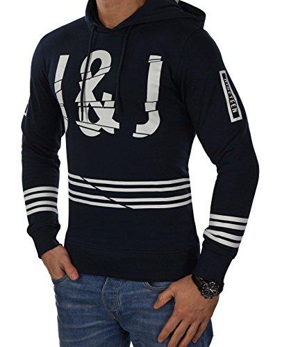 JACK & JONES Herren Kapuzenpullover jcoFUSE Sweat Hoodie Print Regular Fit (XL, Blau (Sky Captain Fit:REG))