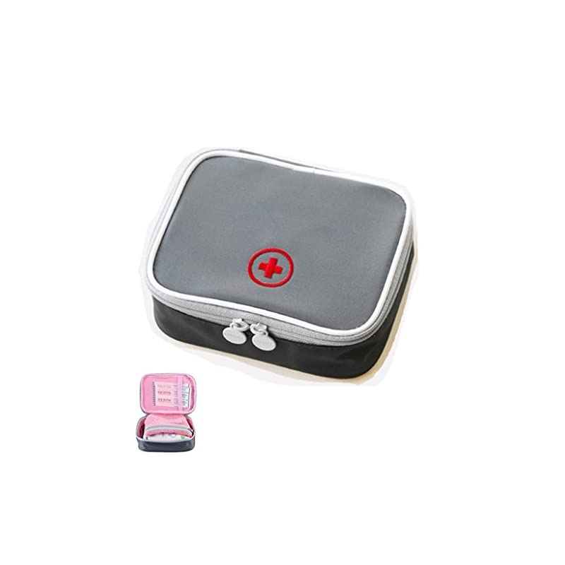 Drcool Mini First Aid Kits Bag Empty Waterproof First Aid Box Small Easy Carry for Travel Home Workplace