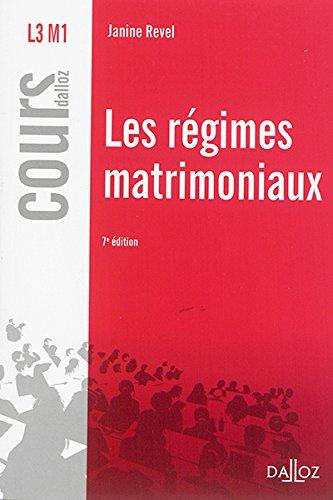 les-rgimes-matrimoniaux-7e-d