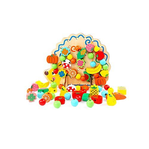 LIUFS-SPIELZEUG Kinder Perlen Spielzeug Handmade Blöcke Jungen und Mädchen Früherziehung um die Perlen Puzzle 2-6 Jahre alt (Farbe : Animal Hedgehog)