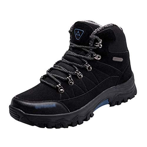 Yuanu Zapatos De Senderismo Impermeables Zapatos Deportivos Al Aire Libre Antideslizantes Zapatos Altos Zapatos para Caminar Negro 44