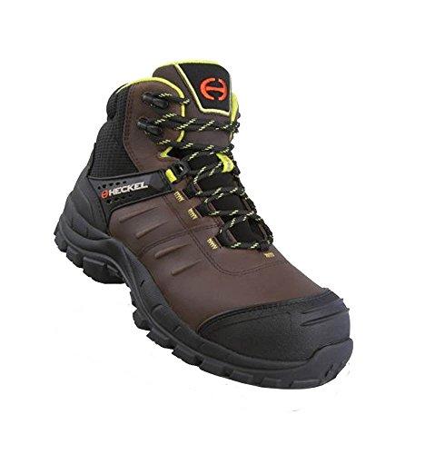 Heckel macsole Adventure maccros Road Brown 2.0S3CI Hi HRO SRC–Scarpe da lavoro/scarpe antinfortunistiche–100% metallo libero Marrone (marrone)