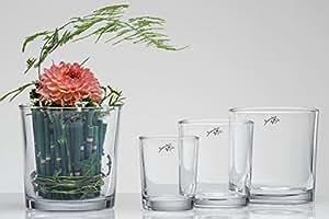 Sandra rich cYLI vase en verre cylindre photophore table 13 cm
