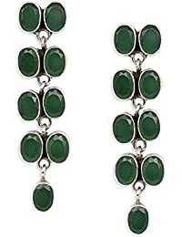 Silverwala 925-92.5 Sterling Silver Onyx Stone fashion Earrings for girls and women