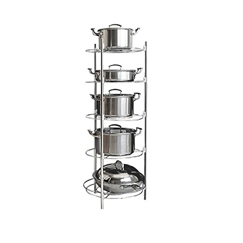 LITINGMEI Shelf LT Küche Racks Floor Corners Edelstahl setzen Topf Küchenutensilien Vorratsbehälter Rack (größe : 5 Layers Size: 35 * 98cm)