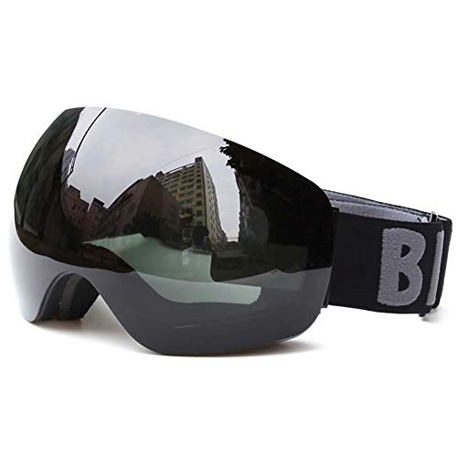 Gg-ski goggles occhiali da snowboard antivento antiappannamento per uomo, donna e gioventù con protezione uv400 e lente antiriflesso