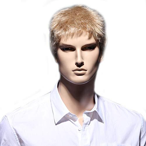 Herrenwisch, Natural Short Hair, geeignet für den täglichen Gebrauch, Gold,Gold