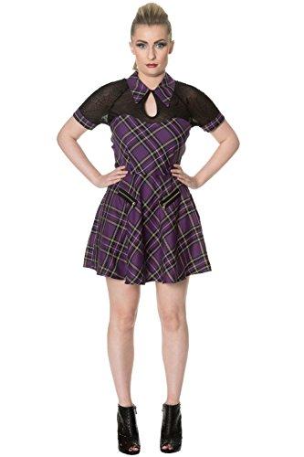 Banned Kleid DUSK BEAUTY TARTAN DRESS 5156 Weiß Karo