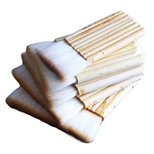 5 Stücke Bambusgriff Breite Pinsel Verschiedene Größen Mixer Pinsel Malerei Montage -