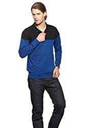 Gridstone Black/Indigo Zipper Sweatshirt-JKTBKIND60113-XL