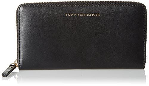 Tommy Hilfiger Damen Smooth Leather Lrg Za Wallet Geldbörse, Schwarz (Black), 14 x 3.5 x 20 cm (Wallet Geldbörse)