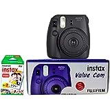 Fujifilm Instax Value Cam Mini 8 with 20 Films Shot (Black)