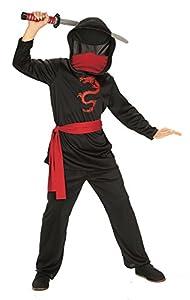 Rubies - Disfraz de ninja sin rostro para niño, infantil S (3-4 años) (Rubies 881121-S)