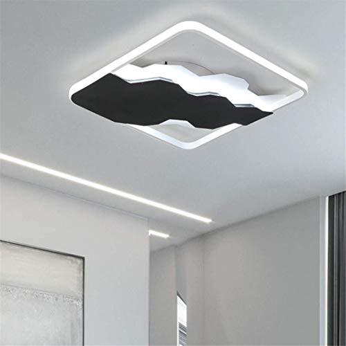 Schwarzes Quadrat Post (Ceiling Light-A Deckenleuchte Nordic Minimalistischen Stil Deckenleuchte Schwarzes Quadrat Kreative Persönlichkeit Master Schlafzimmer Lampe Post Moderne Aluminium Wohnzimmer Lampe)