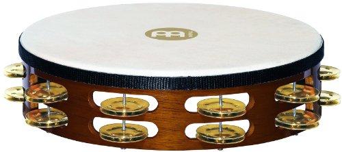 Meinl Percussion TAH2B-AB - Pandereta de madera y latón (piel de cabra), Doble fila