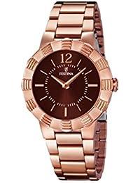 University Sports Press  F16733/2 - Reloj de cuarzo para mujer, con correa de acero inoxidable chapado, color oro rosa