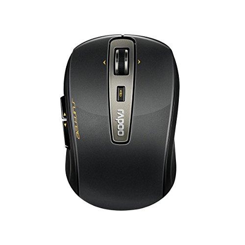 Rapoo 3920P, Mouse Laser Wireless 5 GHz, ambidestro, 4D, 1600 dpi regolabile, ricevitore Nano USB, batteria 18 mesi. 12070, Nero